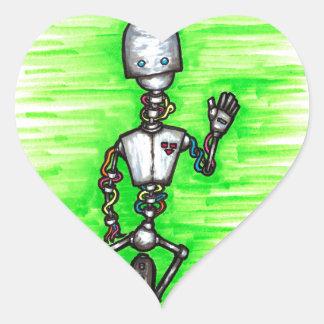 broken robot aka brobot heart sticker