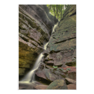 Broken Rock Falls, Old Man's Cave, Hocking Hills Art Photo