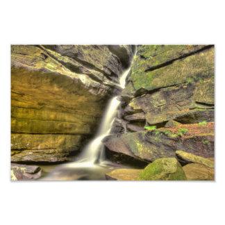 Broken Rock Falls, Old Man's Cave, Hocking Hills Photo Print