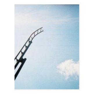 Broken Rollercoaster Postcard