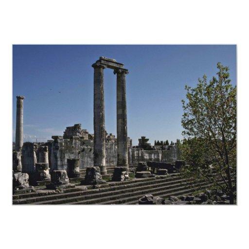 "Broken Ruins Of Greek Style 5"" X 7"" Invitation Card"
