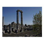 Broken Ruins Of Greek Style Postcards