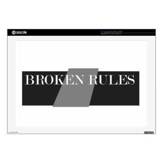 "BROKEN RULES DECALS FOR 17"" LAPTOPS"