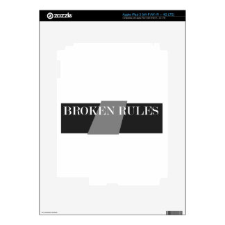 BROKEN RULES iPad 3 SKIN