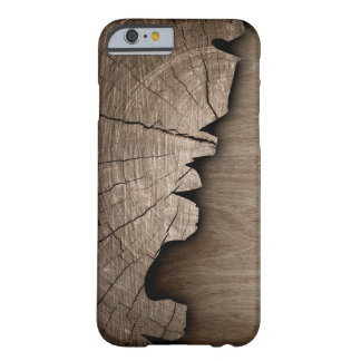 Broken Rustic Wood Pattern Wood Grain Texture Barely There iPhone 6 Case