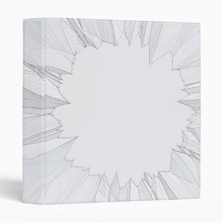 Broken Shattered Glass 3 Ring Binders