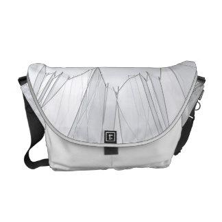 Broken Shattered Glass Courier Bag