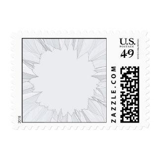 Broken Shattered Glass Postage Stamp