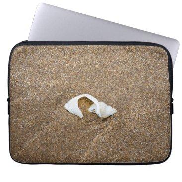 Beach Themed Broken shell laptop sleeve