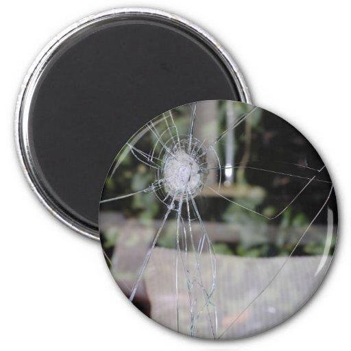 Broken show-window fridge magnet