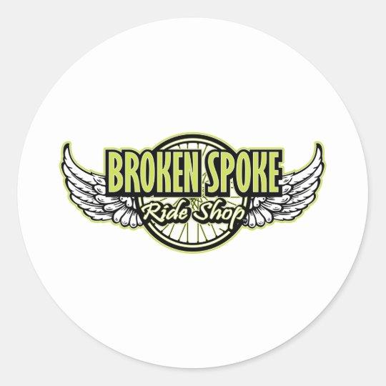 Broken Spoke Ride Shop Gear Classic Round Sticker