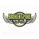 Broken Spoke Ride Shop Gear Post Card