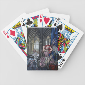 broken steampunk fairy art bicycle playing cards