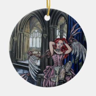 broken steampunk fairy art ceramic ornament