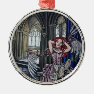 broken steampunk fairy art metal ornament