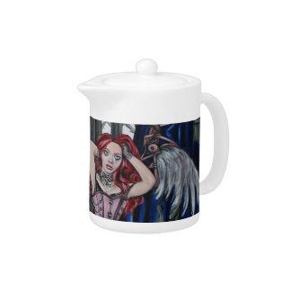 broken steampunk fairy art teapot