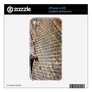 Broken Stone Tablet Skin For iPhone 4