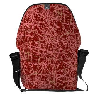 BROKEN STRINGS (abstract art design) ~ Courier Bag