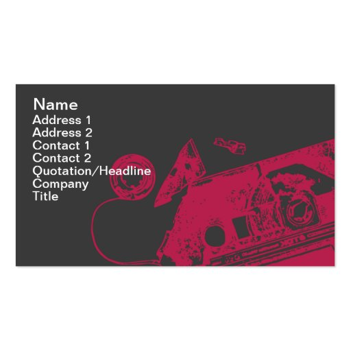 Broken Tape - Business Double-Sided Standard Business Cards (Pack Of 100)