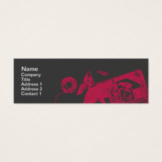 Broken Tape - Skinny Mini Business Card