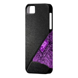 Broken Tech Case- Purple Glow iPhone SE/5/5s Case