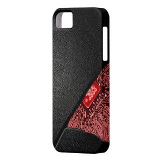 Broken Tech Case- RED Glow iPhone SE/5/5s Case