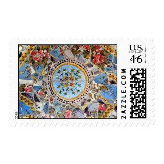 Broken Tile Mosaic Postage Stamps