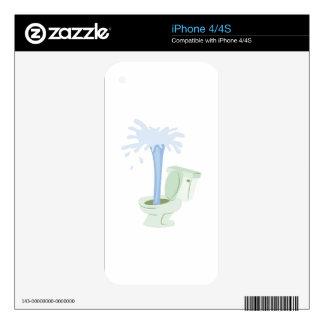 Broken Toilet Skin For The iPhone 4