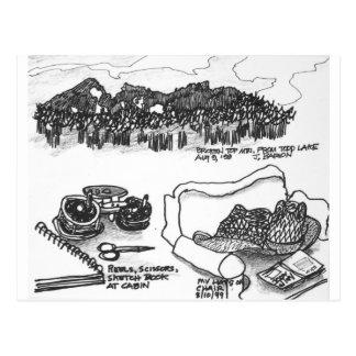Broken Top Mountain from Todd Lake, Oregon Postcard