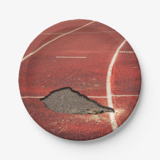 Broken track 7 inch paper plate
