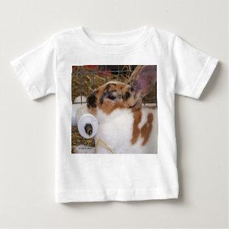 Broken tri color mini rex rabbit head on waterer baby T-Shirt