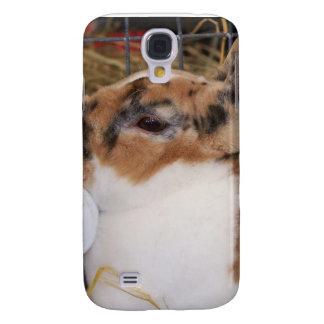 Broken tri color mini rex rabbit head on waterer galaxy s4 cover