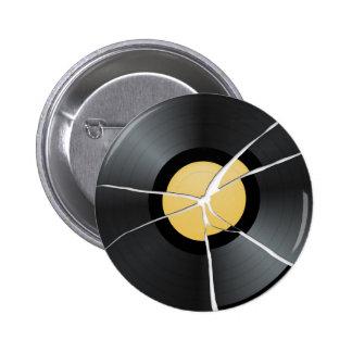 Broken Vinyl Record Button