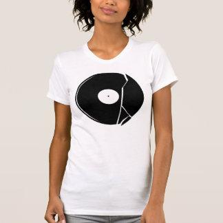 broken vinyl t-shirt