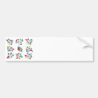 Broken vitreaux bumper stickers