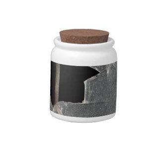 Broken Window Decorative Ceramic Jar With Cork Lid Candy Dish