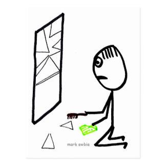Broken Window Postcard