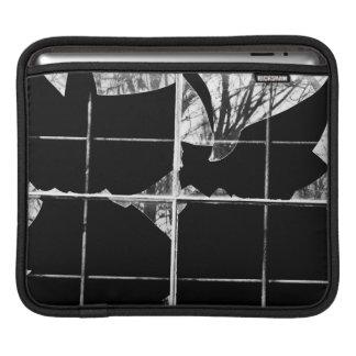 Broken window reflections iPad sleeve