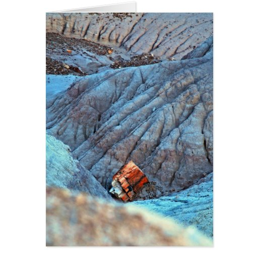 """""""Broken Wood in Blue Canyon"""" collection Greeting Card"""