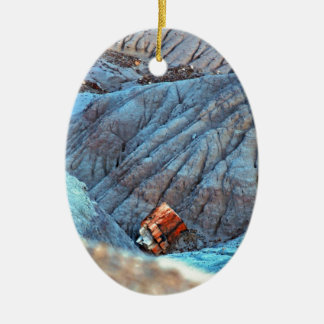 """""""Broken Wood in Blue Canyon"""" collection Ceramic Ornament"""