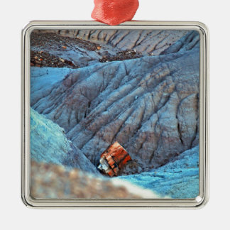 """""""Broken Wood in Blue Canyon"""" collection Metal Ornament"""