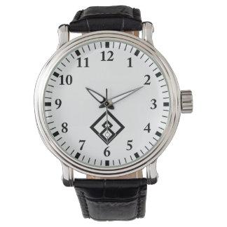 Broken wooded measure wrist watch