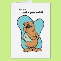 Broken Wrist Bear Card
