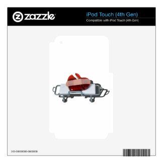 BrokenGlassHeartBandagedOnGurney092715.png iPod Touch 4G Skin