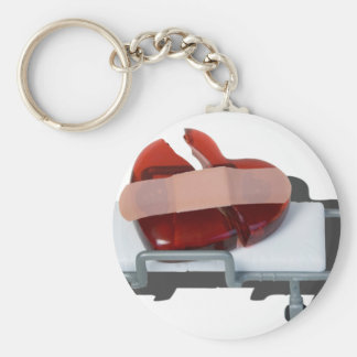 BrokenGlassHeartBandagedOnGurney092715.png Keychain