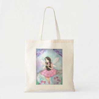 Brokenheart flower fairy -bag budget tote bag