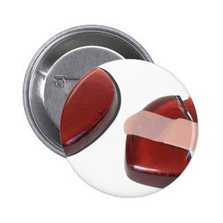 BrokenHeartMendedBandage092715.png Pinback Button