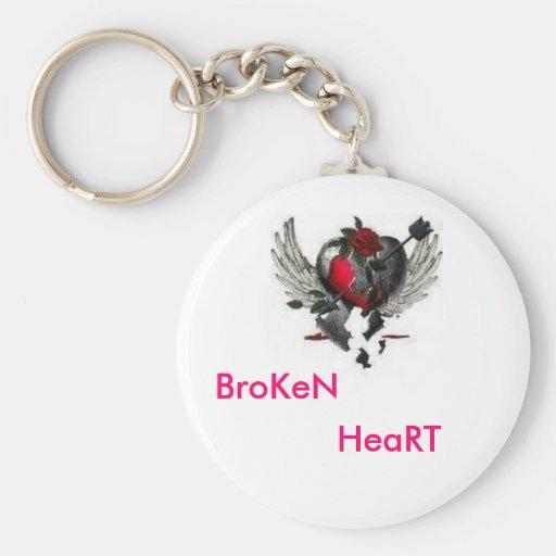 BrokenHeartwithWings, roto, corazón Llavero Redondo Tipo Pin