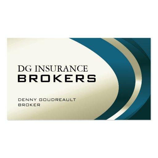 Insurance broker Business Card Templates | BizCardStudio