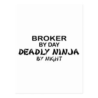 Broker Deadly Ninja by Night Postcard